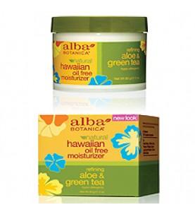 Alba Botanica Aloe & Green Tea Oil-Free Moisturizer / Гавайский увлажняющий крем для лица Алоэ и Зеленый чай, 85 гр