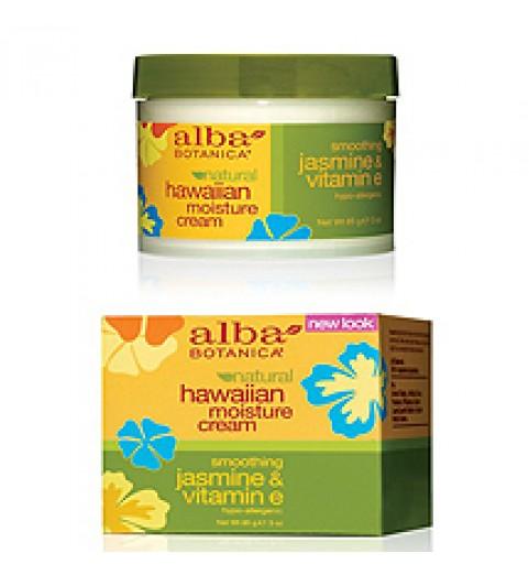 Alba Botanica Hawaiian Moisture Cream (Jasmine & Vitamin E) / Гавайский увлажняющий крем для лица Жасмин & Витамин Е, 85 гр