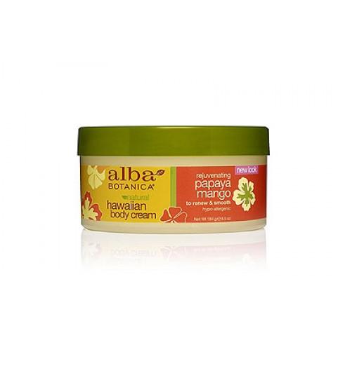 Alba Botanica Papaya Mango Body Cream / Гавайский крем для тела с папайей и манго, 184 гр