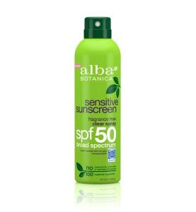 Alba Botanica Sensitive Fragrance Free Clear Spray Sunscreen SPF 50 / Солнцезащитный спрей SPF 50, 177 г