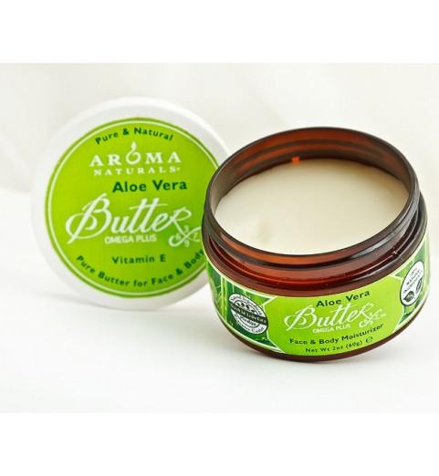 Aroma Naturals Pure Aloe Vera Butterx™ / Масло для лица и тела твердое Алое Вера, 95 гр