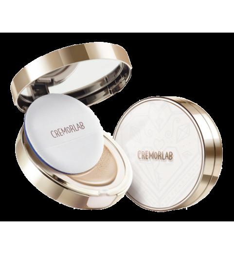 Cremorlab (Креморлаб) Eau Thermale Serum Cushon Set / Кушон - Омолаживающий тональный флюид с сывороткой из ягод женьшеня, тон: ванильный. Основной кушон+сменный блок, 15мл+15мл