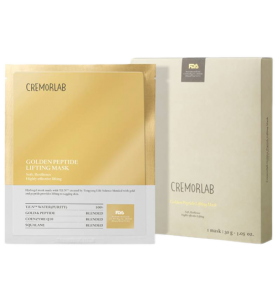 Cremorlab (Креморлаб) Gold Peptide Lifting Mask / Лифтинг маска с золотом и пептидами, 5 шт по 30 мл