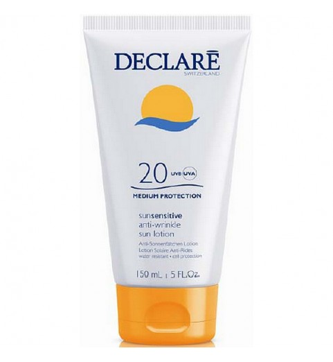 Declare (Декларе) Anti-Wrinkle Sun Lotion SPF20 / солнцезащитный лосьон SPF20 с омолаживающим действием, 150 мл