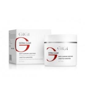 GIGI (ДжиДжи) Derma Clear Deep Cleansing Liquied Pad /  Очищающие ватные диски, 100 шт