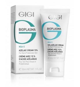Gigi (ДжиДжи) Bioplazma Azelaic Cream / Крем с 15% азелаиновой кислотой для жирной и проблемной кожи, 30 мл