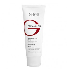 Gigi (ДжиДжи) Derma Clear Cream Protective SPF-15 / Крем увлажняющий защитный, 75 мл