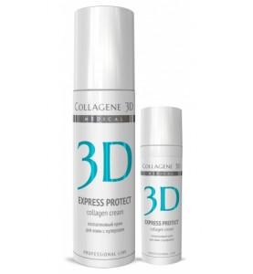 Medical Collagene 3D Express Protect Cream / Крем для лица с софорой японской для кожи с куперозом и устранения синяков и отеков, 150 мл