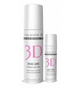Medical Collagene 3D Basic Care / Коллагеновая гель-маска для чувствительной кожи 130 мл