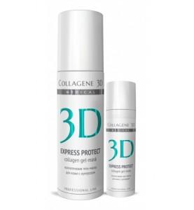 Medical Collagene 3D Express Protect / Коллагеновая гель-маска для кожи с куперозом с софорой японской,130 мл