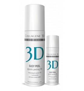 Medical Collagene 3D Easy Peel 5% / Гель-пилинг для лица гликолевы с хитозаном, 5%, 30 мл