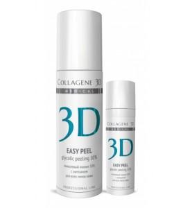 Medical Collagene 3D Easy Peel 10% / Гель-пилинг для лица с хитозаном на основе гликолевой кислоты, 10%, 30 мл