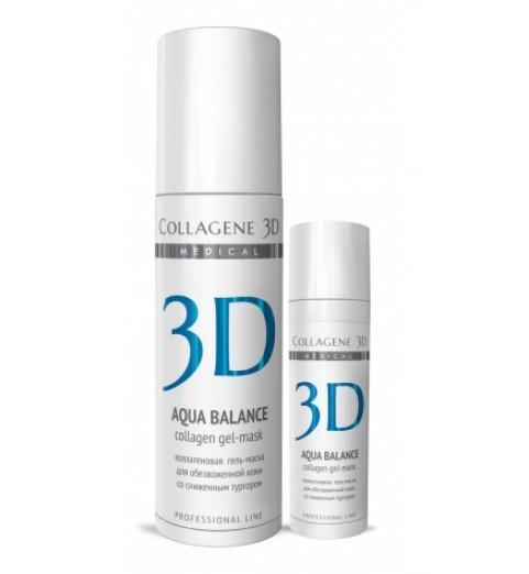 Medical Collagene 3D Aqua Balance / Коллагеновая гель-маска с гиалуроновой кислотой, 130 мл