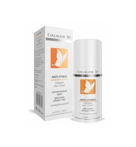 Medical Collagene 3D Anti-Stress / Коллагеновый крем для кожи вокруг глаз с янтарной кислотой, 15 мл