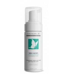 Medical Collagene 3D Sebo Norm / Очищающая пенка для жирной кожи лица, 160 мл