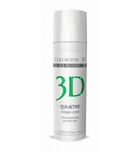 Medical Collagene 3D Q10-Active / Крем для лица с коэнзимом Q10 и витамином E, антивозрастной уход для сухой кожи, 30 мл