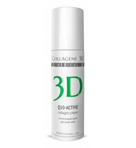 Medical Collagene 3D Q10-Active / Крем для лица с коэнзимом Q10 и витамином E, антивозрастной уход для сухой кожи, 150 мл