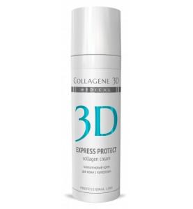 Medical Collagene 3D Express Protect Cream / Крем для лица для кожи с куперозом и устранения синяков и отеков, 30 мл