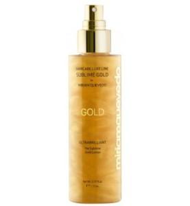 Miriam Quevedo (Мириам Кеведо) Ultrabrilliant The Sublime Gold Lotion /  Золотой спрей-лосьон для ультра-блеска волос 150 мл