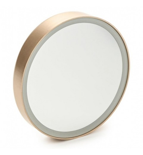 Gezatone LM100 Зеркало косметологическое 10x с подсветкой, золотое