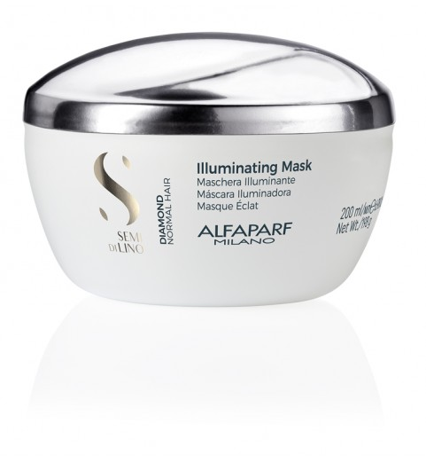 Alfaparf Milano Semi Di Lino Diamond Illuminating Mask / Маска для нормальных волос, придающая блеск, 200 мл