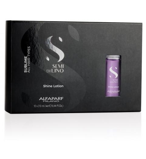 Alfaparf Milano Semi Di Lino Sublime Shine Lotion / Лосьон для всех типов волос, придающий блеск, 12*13 мл