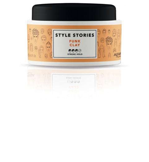 Alfaparf Milano Style Stories Funk Clay / Глиняная паста сильной фиксации для эффекта матовых волос, 100 мл