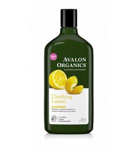 Avalon Organics Lemon Claryfing Shampoo / Шампунь для увеличения блеска с маслом лимона, 325 мл