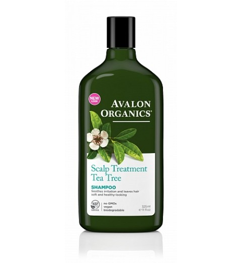Avalon Organics Tea Tree Scalp Treatment Shampoo / Шампунь с маслом чайного дерева, 325 мл