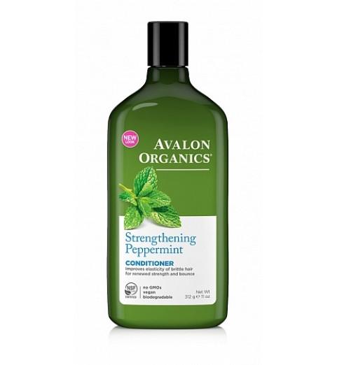 Avalon Organics Peppermint Strenghtening Conditioner / Укрепляющий кондиционер с маслом мяты для тонких волос,  312 мл