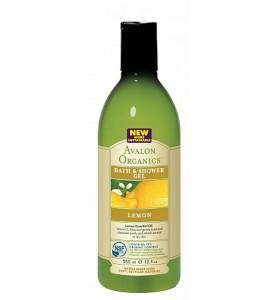 Avalon Organics Lemon Bath & Shower Gel / Гель для душа с маслом лимона, 355 мл