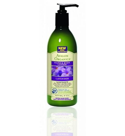 Avalon Organics Lavender LTN / Лосьон для рук и тела для сухой кожи Лаванда, 360 мл