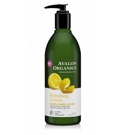 Avalon Organics Lemon H&B lotion / Лосьон для рук и тела для нормальной и сухой кожи Лимон, 360 мл