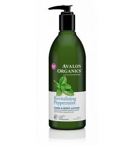 Avalon Organics Peppermint LTN / Лосьон для рук и тела для нормальной и сухой кожи Мята, 360 мл