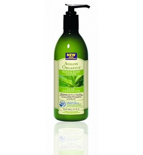 Avalon Organics Aloe Unscented LTN / Лосьон для рук и тела для сухой и чувствительной кожи без запаха Алоэ, 360 мл