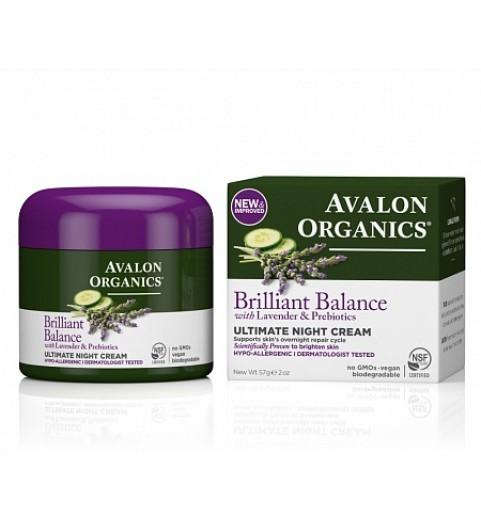 Avalon Organics Ultimate Night Cream / Ночной крем с лавандой, 57 г