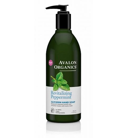 Avalon Organics Peppermimt Glycerin Hand Soap / Глицериновое мыло для рук с маслом мяты, 355 мл