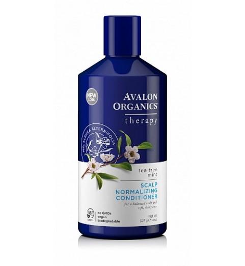 Avalon Organics Tea Tree Mint Treatment Conditioner / Нормализующий кондиционер с маслом чайного дерева и мятой, 397 мл