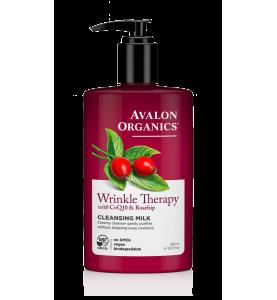 Avalon Organics Wrinkle Therapy with CoQ10 & Rosehip Cleansing Milk / Очищающее молочко против морщин с коэнзимом Q10 и шиповником, 250 мл