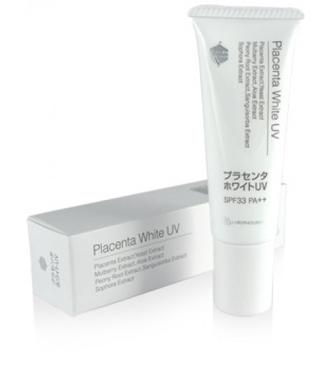 Bb Laboratories Placenta White UV / Крем солнцезащитный SPF 33 РА ++ для профилактики гиперпигментации, 30 г