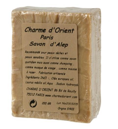 "Charme D Orient (Шарм Ориент) Savon d'Alep pur / Мыло ""Алеп"" для чувствительной кожи (кусковое), 200 г"