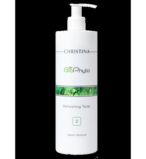 Christina (Кристина) Bio Phyto Refreshing Toner / Освежающий тоник (шаг 2), 500 мл