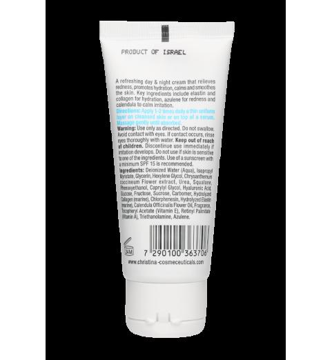 Christina (Кристина) Elastin Collagen Azulene Moisture Cream with Vitamins A, E & HA for normal skin / Увлажняющий крем c витаминами А, Е и гиалуроновой кислотой для нормальной кожи «Эластин, коллаген, азулен», 60 мл