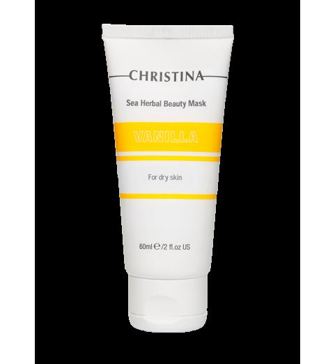 Christina (Кристина) Sea Herbal Beauty Mask Vanilla for dry skin / Маска красоты на основе морских трав для сухой кожи «Ваниль», 60 мл