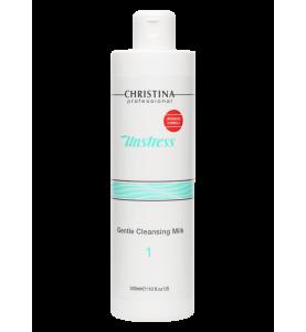 Christina (Кристина) Unstress Gentle Cleansing Milk / Нежное очищающее молочко (шаг 1), 300 мл