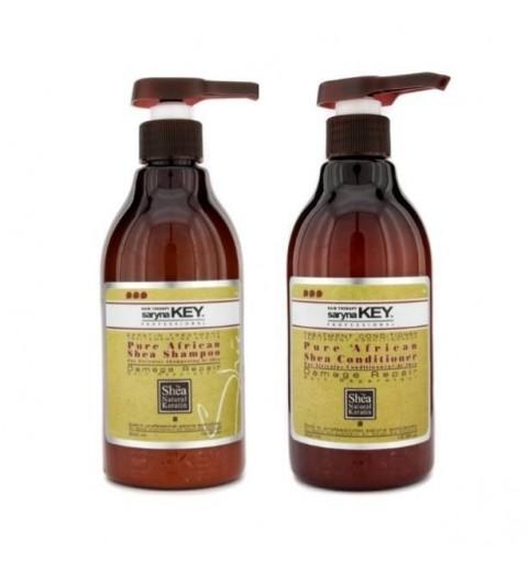 Saryna Key (Сарина Кей) Damage Repair Kit / Набор: шампунь и кондиционер с Африканским маслом Ши для сухих и повреждённых волос, 2*1000 мл