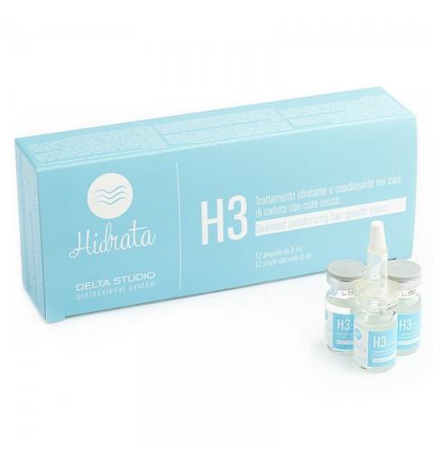 Delta Studio H3 / Средство увлажняющее против выпадения волос при сухой коже, 12 шт по 6 мл