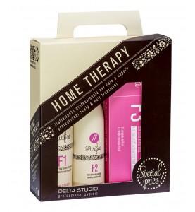Delta Studio Набор домашней терапии для устранения перхоти и выпадения волос (Шампунь F1, Крем F2, Лосьон F3)