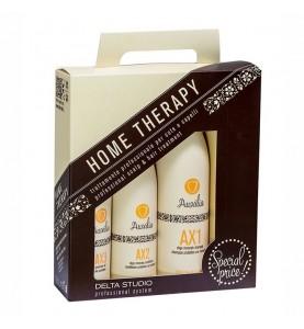 Delta Studio Набор домашней терапии для защиты от внешней среды и для окрашенных волос( Шампунь AХ1, Масло AХ2, Спрей AХ3)