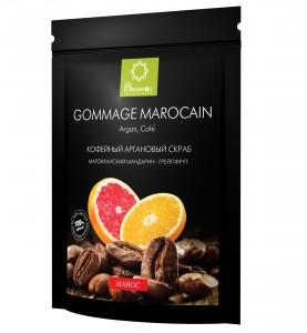 Diar Argana Gommage Marocain / Кофейный скраб с маслом арганы, карите (ши), кокоса Грейпфрут - Мандарин, 200г